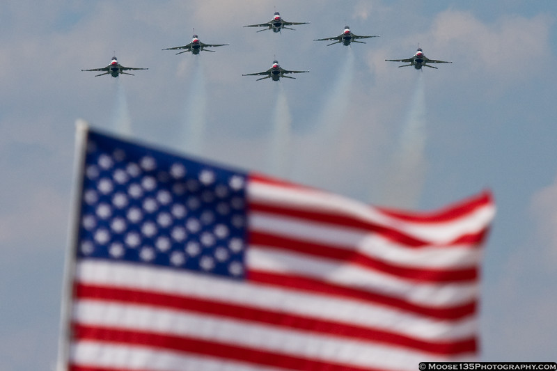 May 13 - The Thunderbirds know how to make an entrance, at the McGuire AFB Open House.