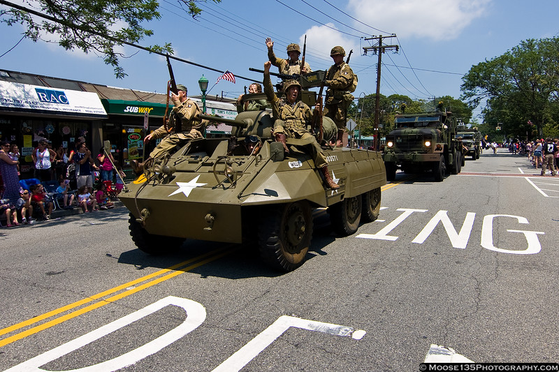 July 4 - The American Airpower Museum's Armor Division liberates Massapequa Park.
