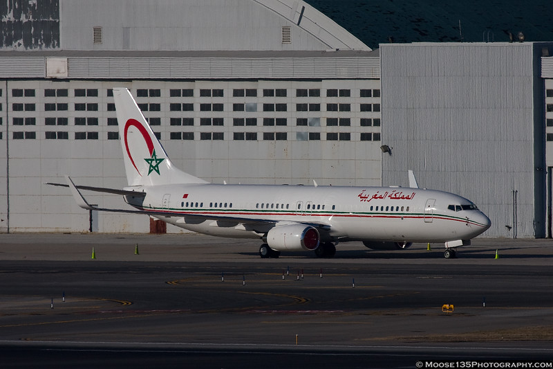 February 28 - Royal Moroccan Government Boeing 737-8KB BBJ at Kennedy Airport.