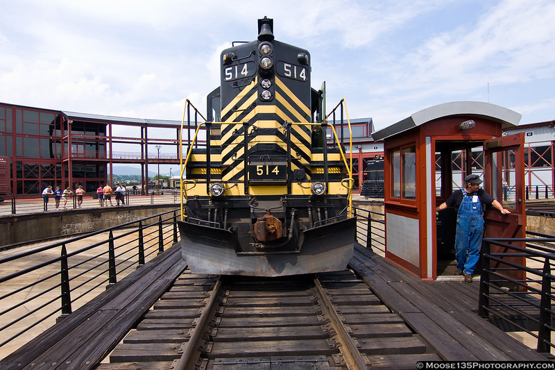 August 1 - Working on the railroad at Steamtown National Historic Site.