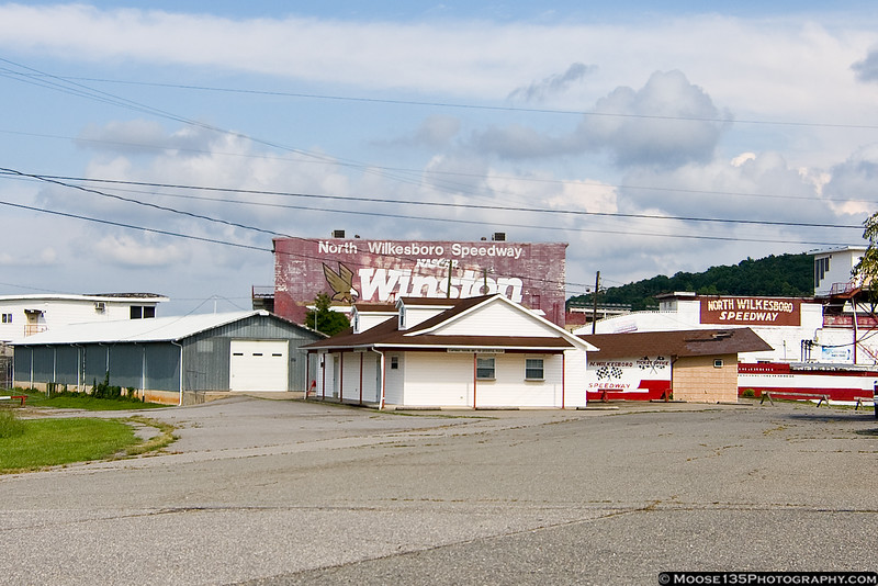 August 11 - The remains of North Wilkesboro Speedway