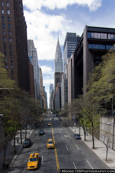 April 9 - Looking all the way across town on 42nd Street.
