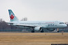"""February 11 - Despite the lack of winter weather, the hockey season is in full swing.  Air Canada """"jetz"""" A320 arrives at Republic Airport to pick up the LA Kings after a game with the Islanders."""