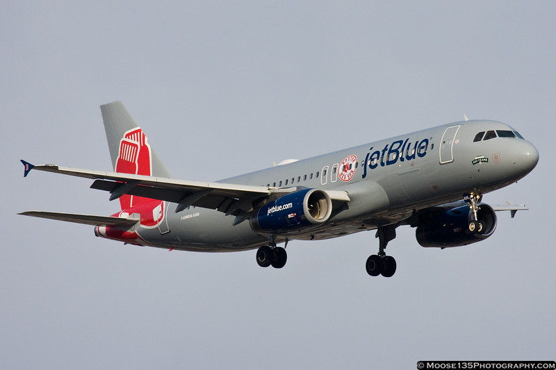 February 21 - New colors on this jetBlue A320 mark the airline's operations in Boston.