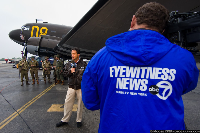 May 24 - WABC-7 Eyewitness News kicked off Jones Beach Air Show coverage with a live remote from the American Airpower Musuem.  4:30am is awfully early!