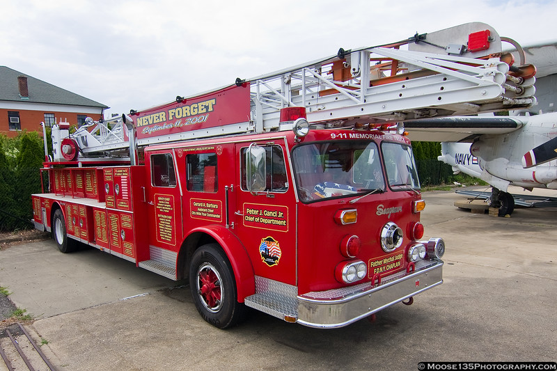 July 15 - 9/11 Memorial Fire Truck on display at the Cradle of Aviation Museum