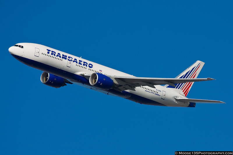 February 20 - Off to Moscow on this Transaero 777.