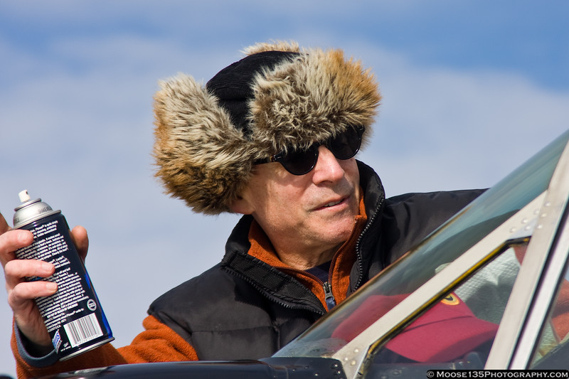 February 5 - No, it's not Nanook of the North, that's Paul, getting his T-6 ready for a flight.