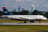 October 6 - Departing US Airways jet with the Charlotte skyline.