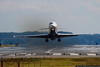 September 13 - He's heading right for us!  Delta MD-88 departs National Airport, as seen from Gravelly Point Park.