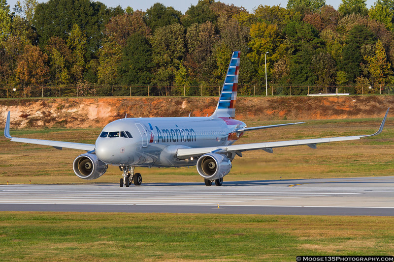 October 26 - New American Airlines A319 departing Charlotte.