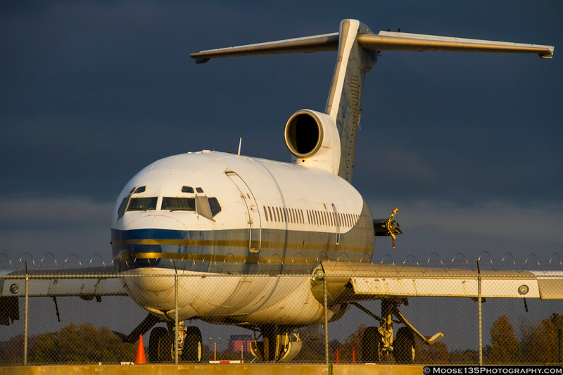 November 16 - This old 727 has seen service with Frontier, Braniff, MGM Grand, and finally Roush Racing.  Today it was moved for the first time in several years...could its days be numbered?