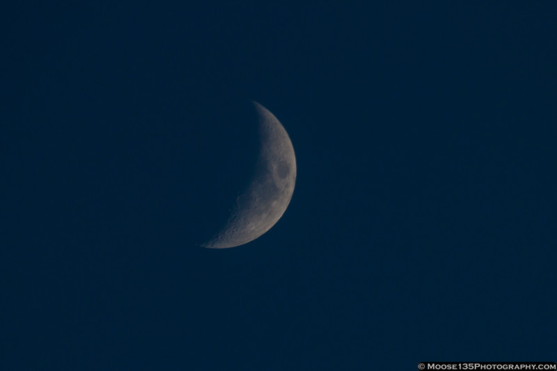 February 15 - Late afternoon moon light.