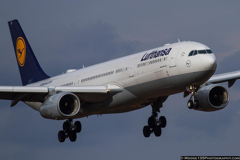 January 13 - Lufthansa A330 arriving in Charlotte.