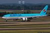 September 12 - Big Korean B777 arrives at Dulles Airport in Washington.