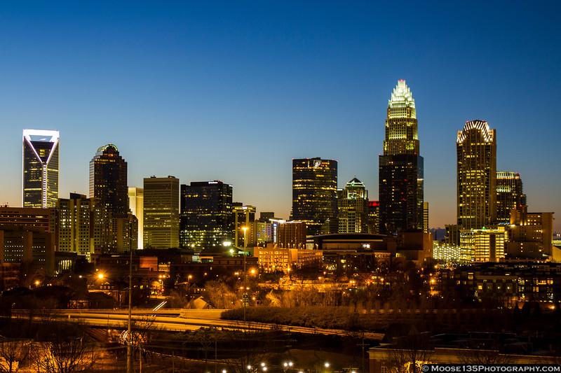 February 3 - Sunset in Charlotte.