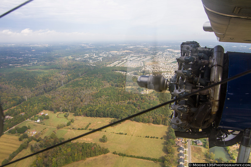 October 19 - Cruising over Charlotte in a 1929 Ford Tri-Motor