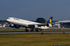 October 4 - Lufthansa A340-600 uses quite a bit of Runway 36C to get airborne.