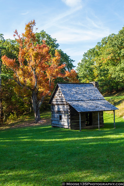 October 5 - Jesse Brown cabin along the Blue Ridge Parkway