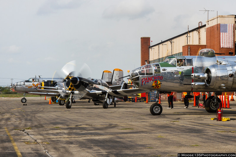 September 1 - Part of the flying formation begins to take shape at the American Airpower Museum.