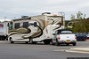 October 13 - Race weekend at Walmart.  The day after the NASCAR race at Charlotte Motor Speedway, motorhomes fill the parking lot of the nearby Walmart store.