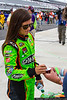 August 2 - Danica Patrick signs autographs before qualifying for the NASCAR Sprint Cup race at Pocono Raceway.