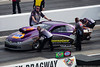 April 11 - Vincent Nobile has made a name for himself in the NHRA Pro Stock division.  His father - at the left front wheel - also helps out on the team.  Vincent's aunt is an old Newsday friend.