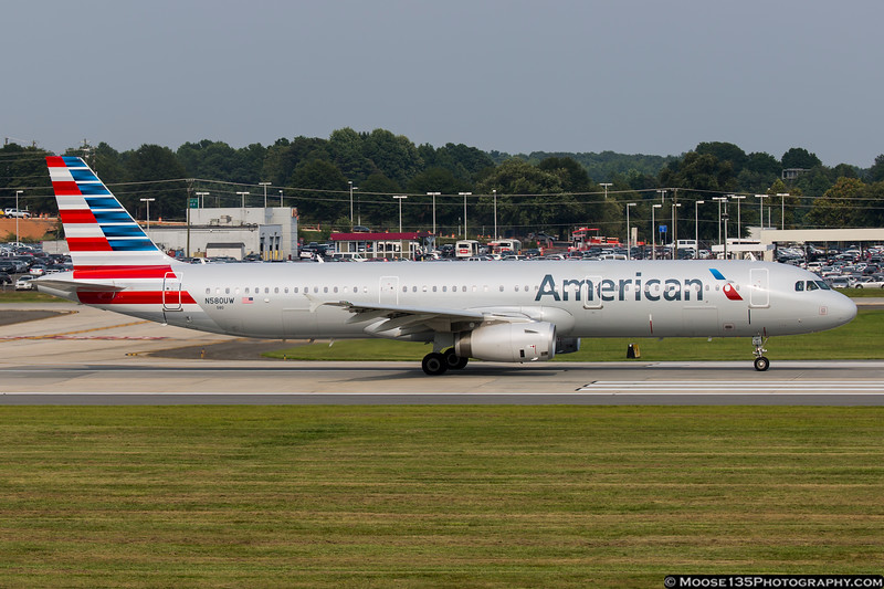 August 17 - Changing times - slowly but surely, US Airways colors are being replaced by American Airlines paint.  N580UW is a US Airways ordered A321 that was delivered in AA colors.