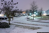 January 28 - A snowy evening in Charlotte.