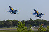 May 25 - Blue Angel 5 and 6 blast out of Republic Airport.