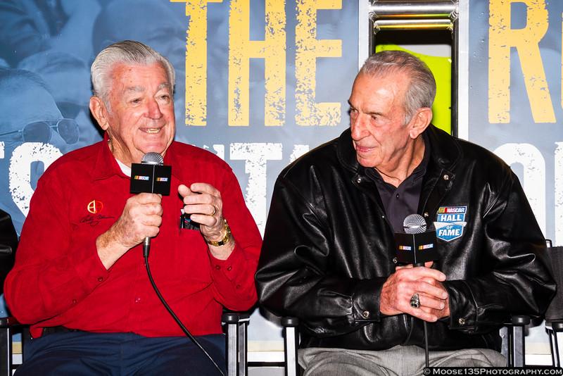 February 1 - NASCAR Legends Bobby Allison and Ned Jarrett at the NASCAR Hall of Fame.