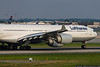 June 17 - Lufthansa A340 thunders out of Charlotte.