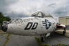 August 9 - The latest addition to the Hickory Aviation Museum, a Grumman F9F-8T Cougar, used by the US Navy for pilot training in the late 1950s and into the 1960s.