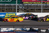 October 26 - Joey Logano leads Denny Hamlin and Jeff Gordon late in the running of the Goody's 500 NASCAR Sprint Cup Series race at Martinsville Speedway.