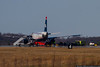 January 12 - First spotting trip of the year, and we find a US Airways A320 stopped on Runway 36L after he blew a tire on landing.