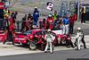 June 8 - Brad Keselowski receives quick pit work from his Penske Racing pit crew.