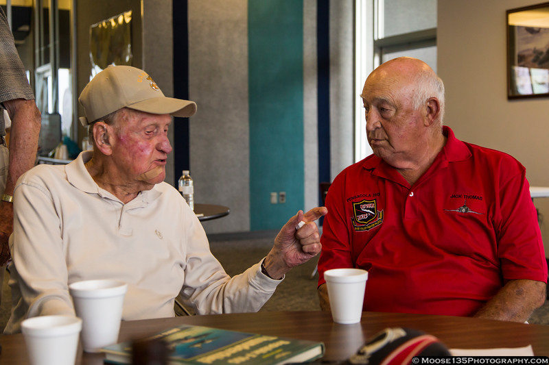 August 23 - Veterans trading stories over lunch at the Hickory Aviation Museum.
