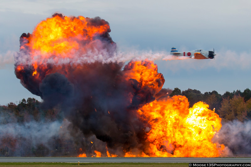 November 8 - Things go boom at Warbirds Over Monroe.