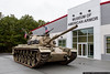 October 11 - The newest acquisition of the Museum of American Armor is this M48 Patton tank.  Sold to Jordan, it was captured by the Israeli army, and saw service in the 1973 Yom Kippur War, where it was damaged by Egyptian forces and abandoned.  It was displayed in Egypt until purchased by a British collector for the Littlefield collection in California before its recent move to Long Island and the MAA.