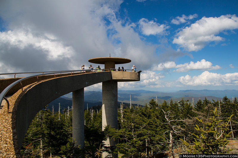 May 11 - Clingmans Dome observation tower in Great Smoky Mountains National Park.