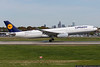 April 5 - Lufthansa A330 touches down after a flight from Munich.
