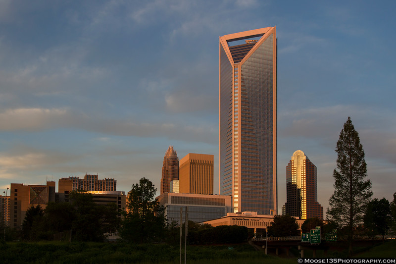April 27 - Sunset on Uptown Charlotte