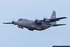 April 23 - North Carolina Air National Guard C-130 departing on a training sortie.