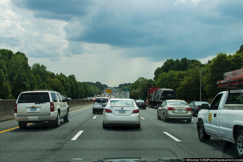 June 19 - Eight miles in 45 minutes - clearly Charlotte has learned how to do traffic...