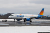 February 26 - Allegiant Airlines preparing to leave a snowy Concord for warmer weather in Orlando.