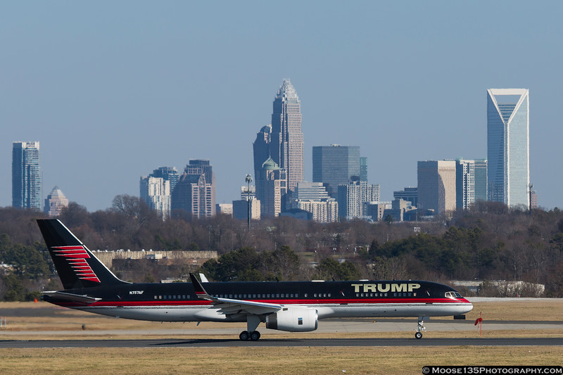 February 14 - The Donald visited Charlotte to speak at the annual convention of a locally-headquartered business group.