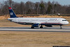 "January 31 - US Airways ""Heritage"" scheme jet departing Charlotte."