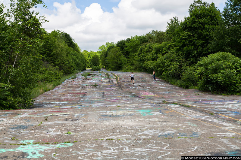 June 5 - Former Highway 61 in Centralia, Pennsylvania.  A coal fire under the town has been burning for more than 50 years, and Centralia is all but abandoned today.