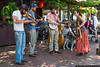 August 29 - The Pretty Little Goat string band entertains in Asheville.
