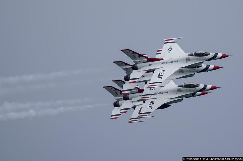 May 22 - US Air Force Thunderbirds perform at Jones Beach.